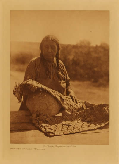 Braided squash, Wichita, Edward S. Curtis. Photo courtesy of The Curtis Collection.