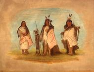 Two Blackfoot Warriors and a Woman, George Catlin