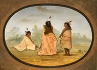 Three Blackfoot Men, George Catln