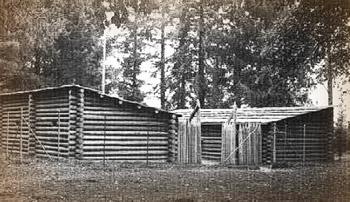 Recreation of Fort Clatsop, 1960