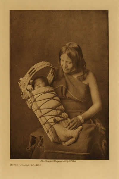In the cradle-basket. Hopi. Photo by Edward S. Curtis. Courtesy of a2zcds