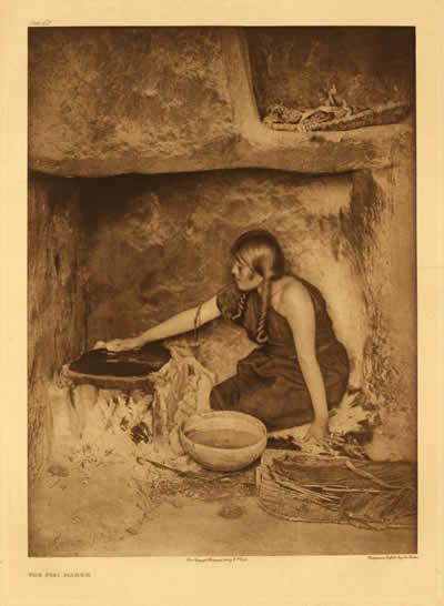 The Piki maker. Hopi. Photo by Edward S. Curtis. Courtesy of a2zcds.
